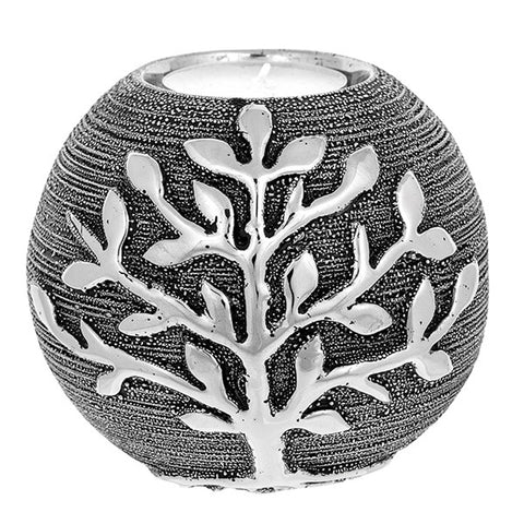 Tree of Life Tealight Ball (Gun Metal)