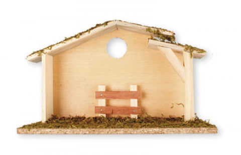 Wooden Nativity Shed - Plain