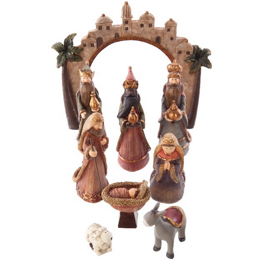 Colourful Nativity Set