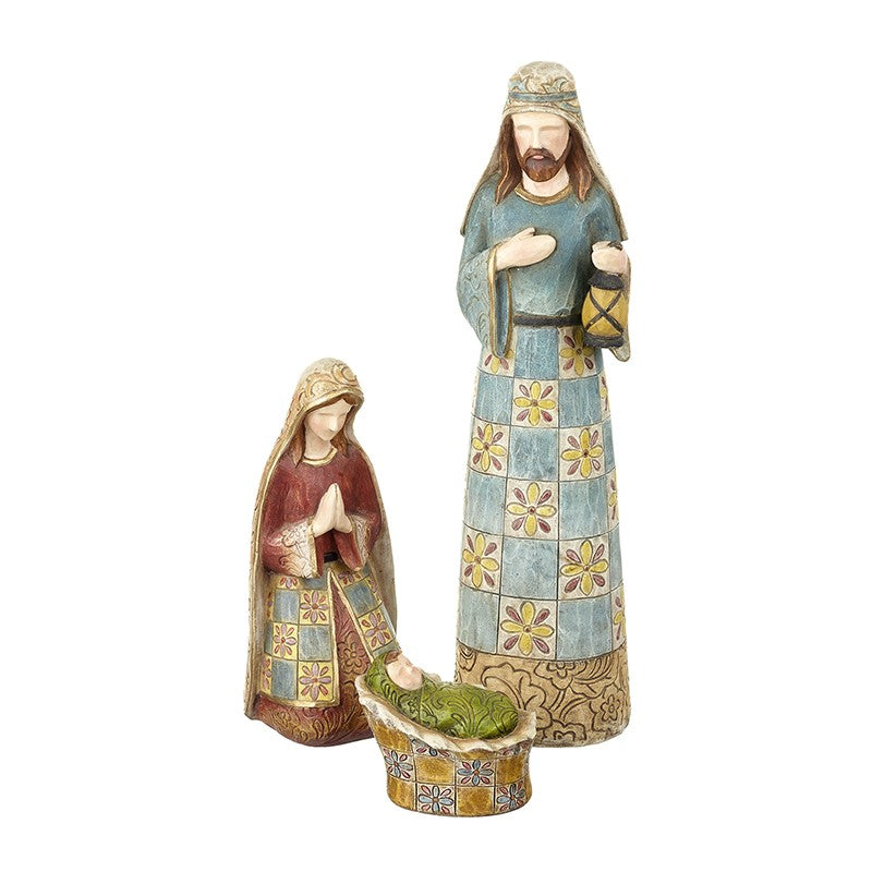 Patterned Nativity Set