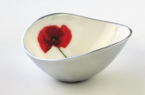 Azeti Poppy Small Oval Bowl