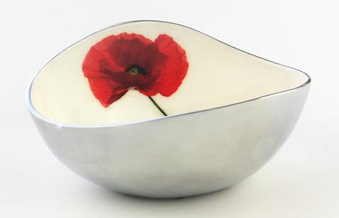Azeti Poppy Medium Oval Bowl
