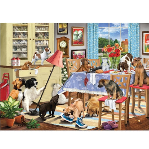 1000 piece  Jigsaw - Dogs in the Dining Room