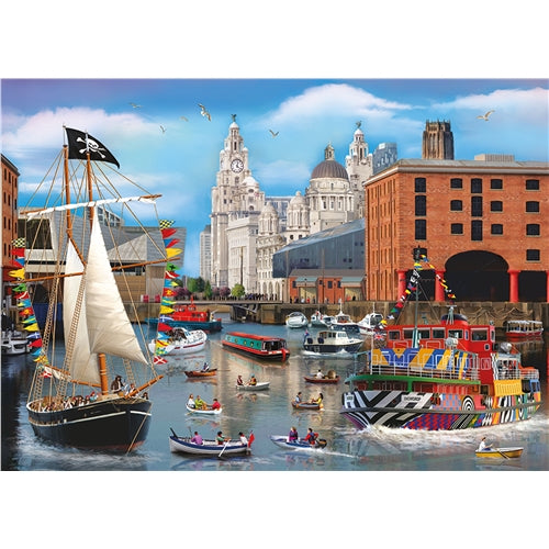 1000 piece  Jigsaw - Liverpool Views - Dockside