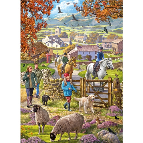 1000 piece  Jigsaw - Autumn Walk