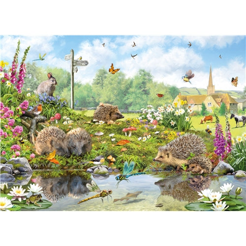 1000 piece  Jigsaw - Riverside Wildlife