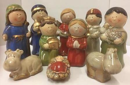 Childrens Ceramic Nativity Set