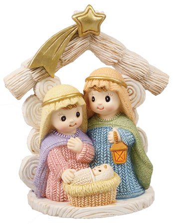 Knitted Effect Holy Family Ornament