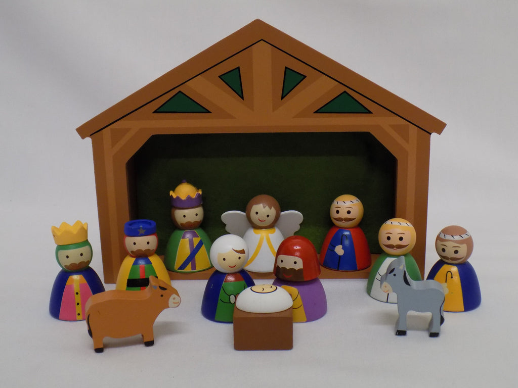 Children's Wooden Nativity