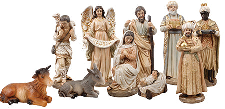 Pearlised Nativity Set