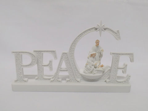 Light Up Peace Nativity Ornament