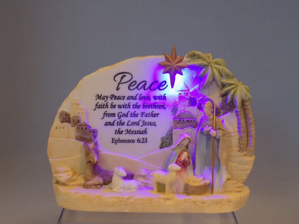 Light Up Peace Ornament