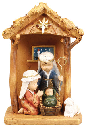 Holy Family in Stable Ornament