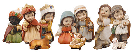 Childrens Resin Nativity Set