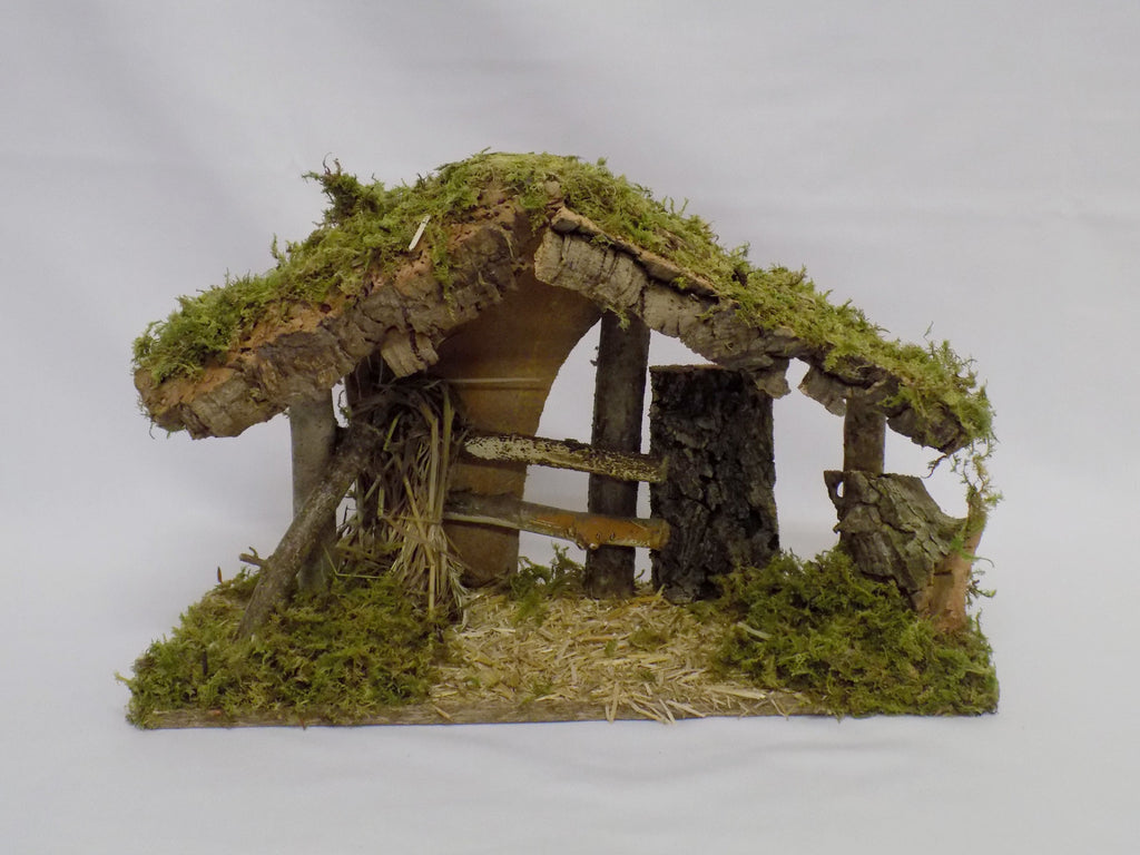 Wooden Nativity Shed