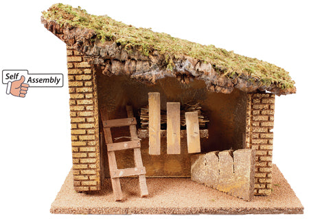 Sloped Wooden Nativity Shed