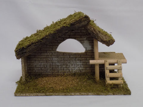 Simple Wooden Nativity Shed