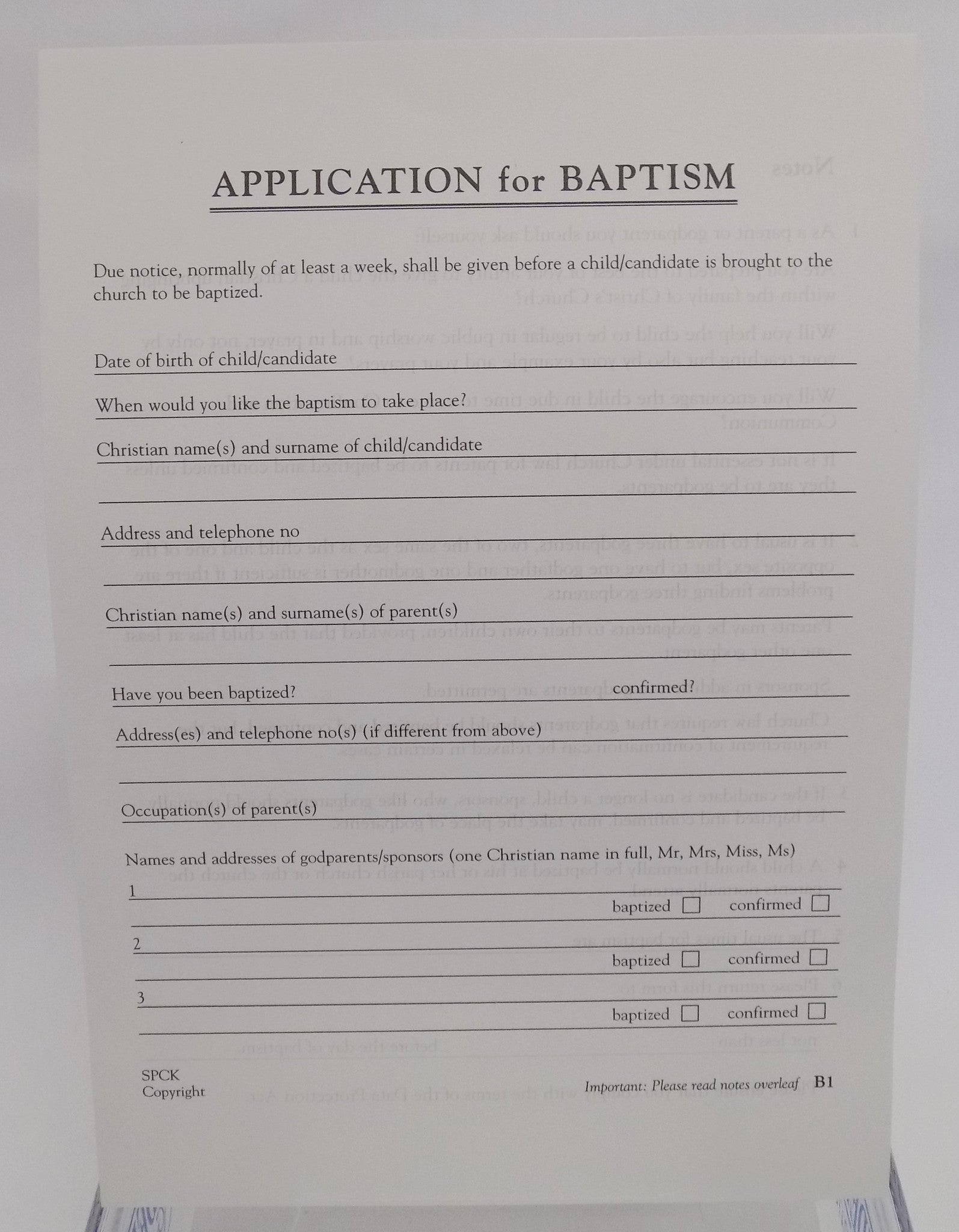 baptism application forms b liverpool cathedral baptism application forms