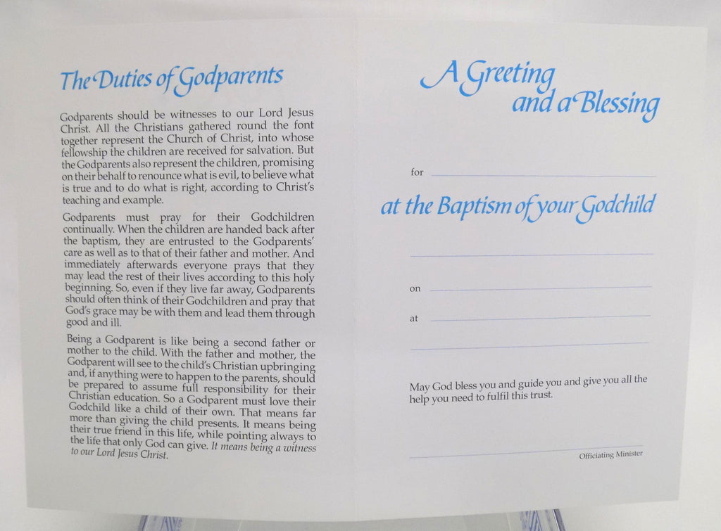 Godparent card