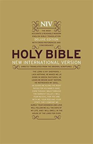NIV - Deluxe Large Print Bible - Bibles