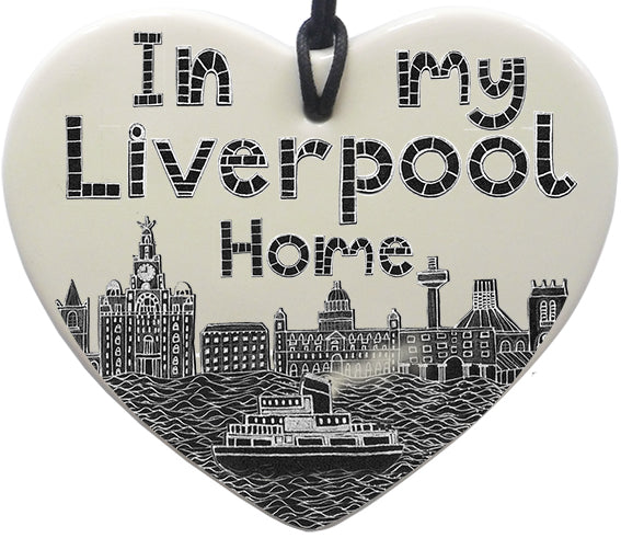 """In My Liverpool Home"" Hanging Heart"
