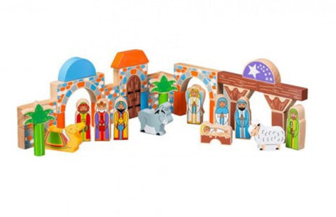 Lanka kade wooden nativity building blocks