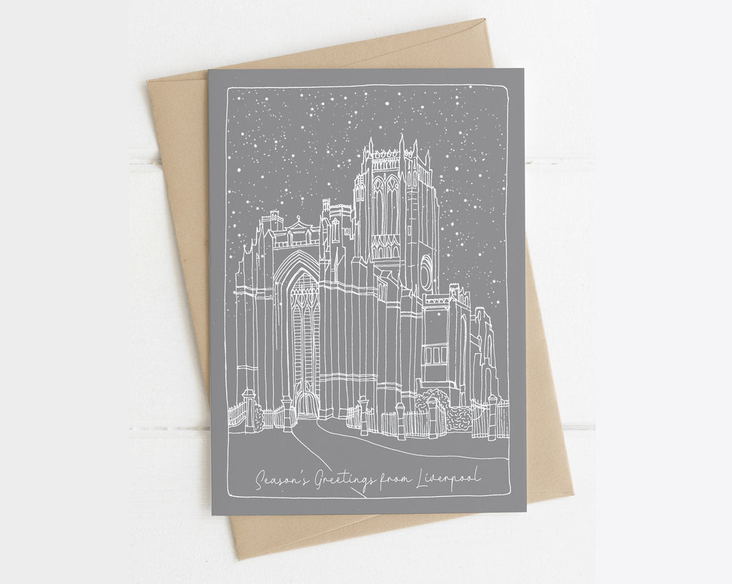 Liverpool Cathedral - Single Christmas Card