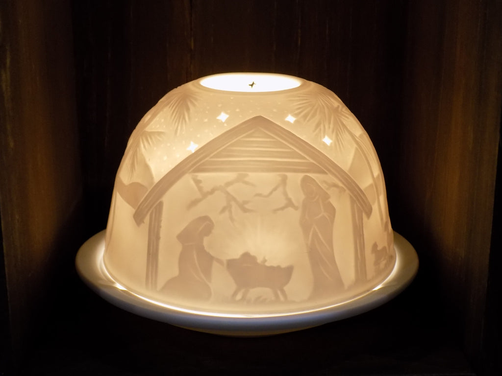 Nativity Scene Ceramic Tea Light Holder