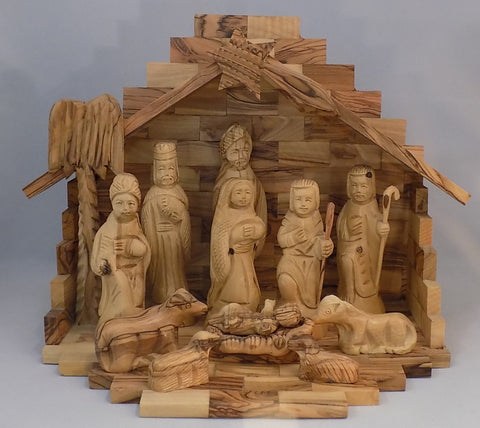 Olivewood Detailed Nativity Set
