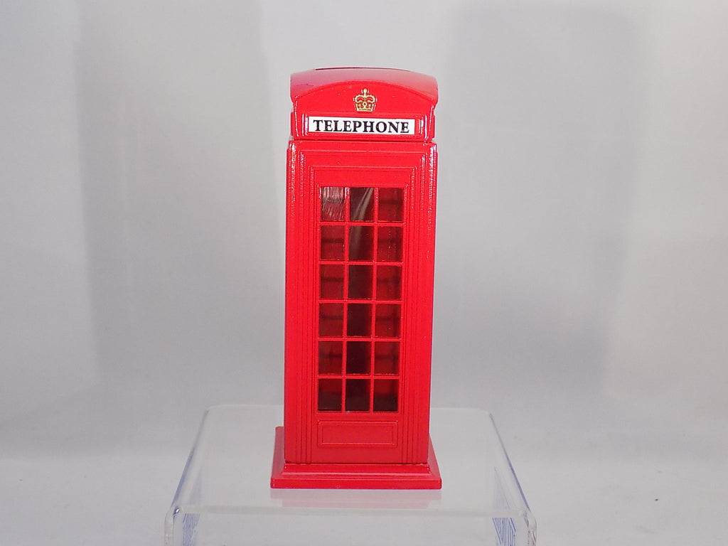 Telephone Box Die Cast Money Box - red