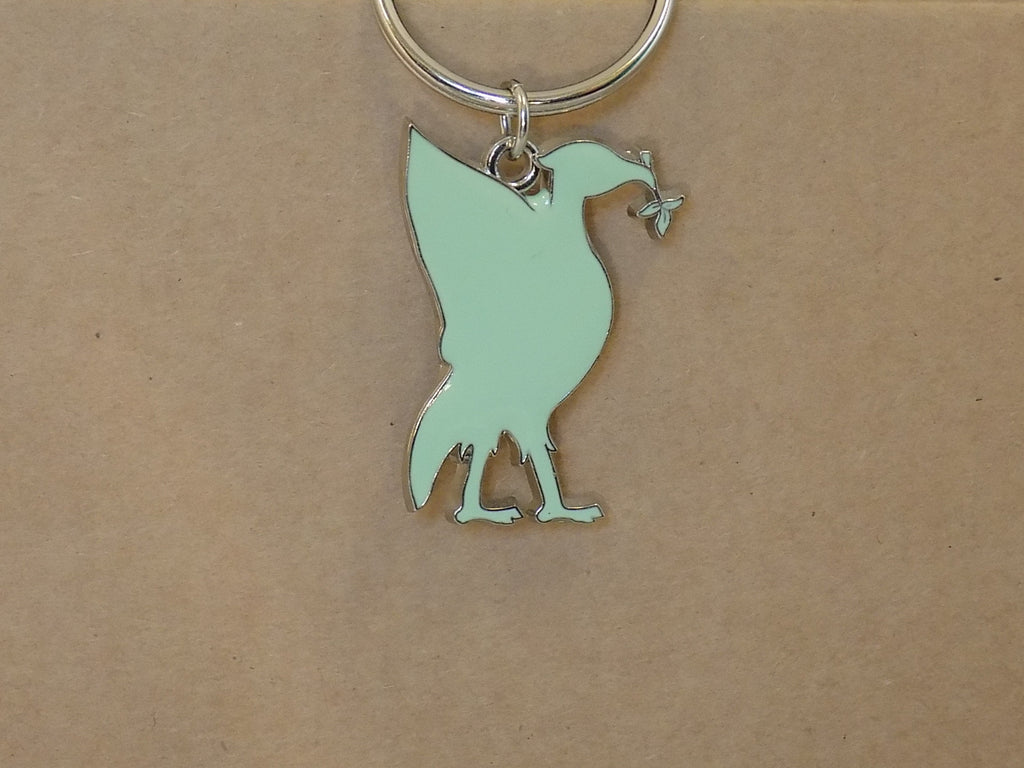 Liver bird keyring green