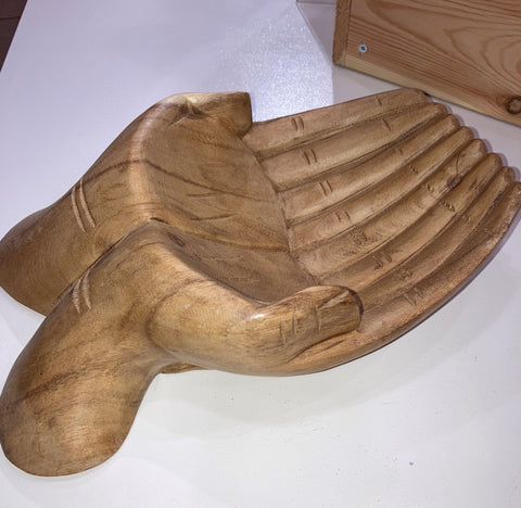 Hand of Hope Wooden Bowl