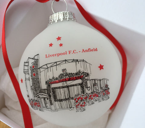Glass Liverpool Football Club Bauble - Freida McKitrick