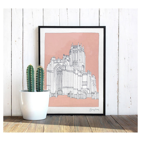 Grace Emily Unmounted Liverpool Cathedral Print - 30 x 40