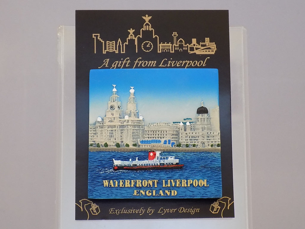 liverpool waterfront 3d fridge magnet - day