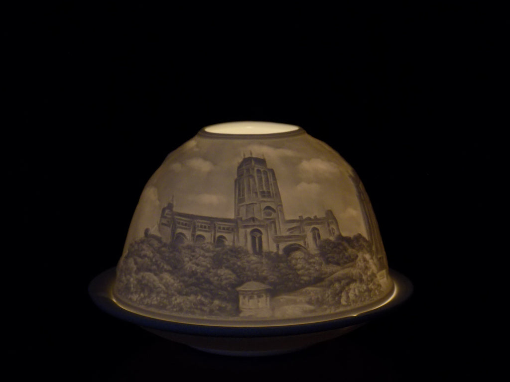 Liverpool cathedral ceramic tea light holder