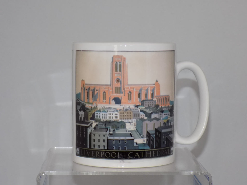 liverpool cathedral  mug - cream