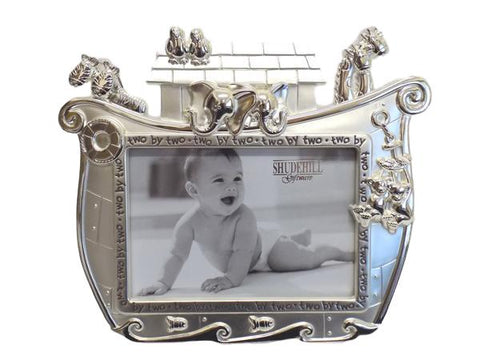 Noah's Ark Silver Picture Frame