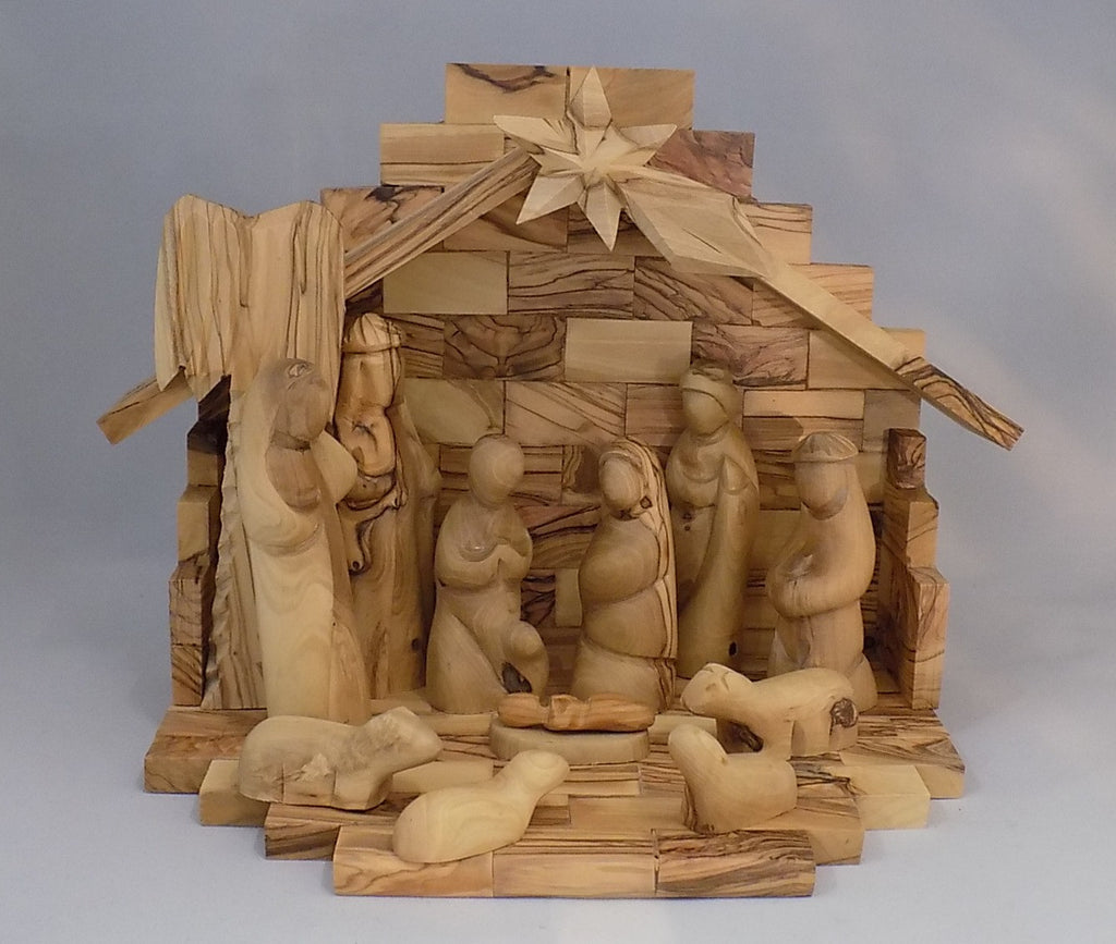 Olivewood Nativity Set