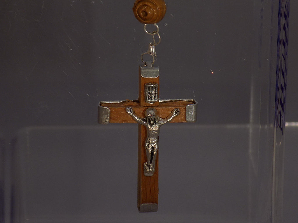 Olivewood Rosary with Engraved Beads