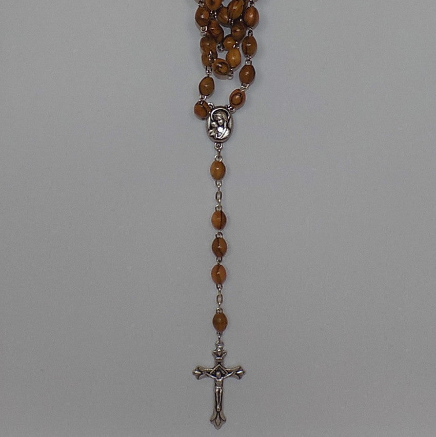 Olivewood Rosary with a Special Sealed Gift - rosaries