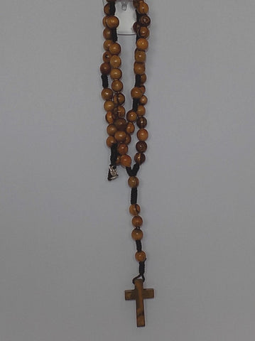 Olivewood Rosary with Wooden Cross