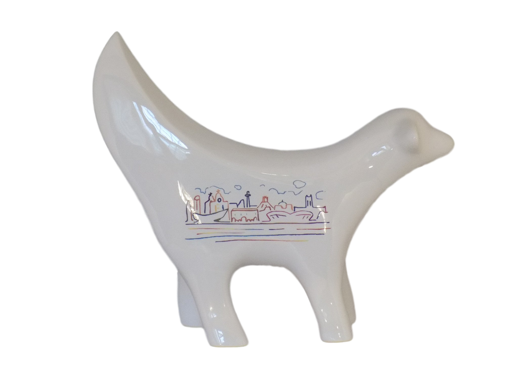White Skyline Ceramic Superlambanana
