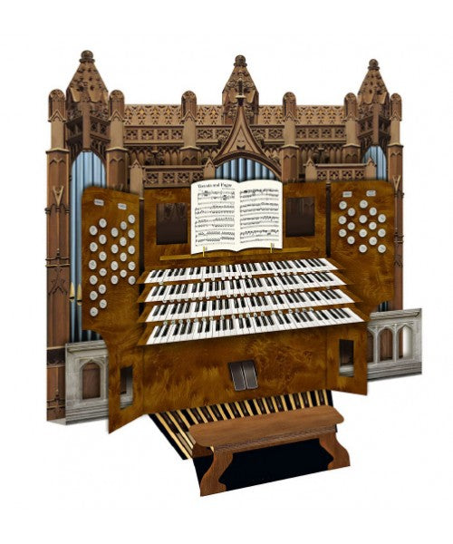 Cathedral Organ 3D Greetings Card