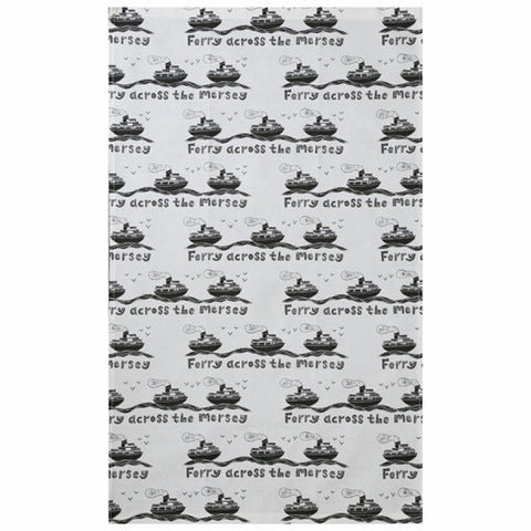 """Ferry Cross the Mersey""  Tea Towel"