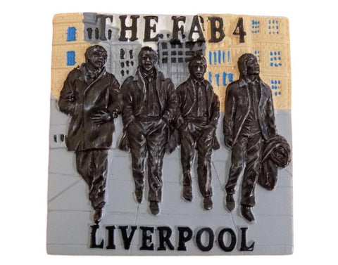 Fab 4 3D Fridge Magnet