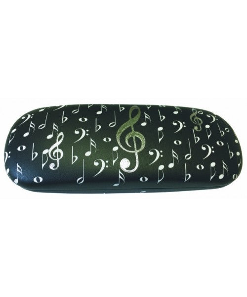Music Notes Glasses Case
