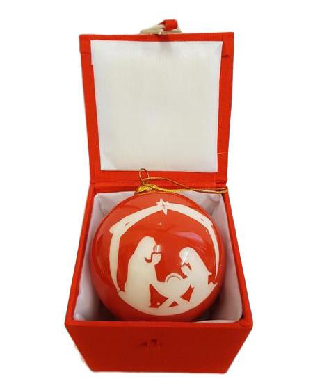 Holy Family Glass Bauble