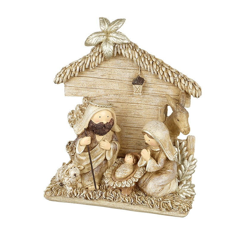Gold Nativity Scene