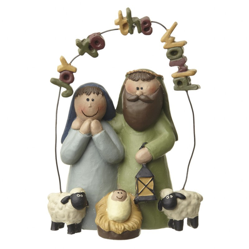 'Joy to The World' Mini Nativity Ornament
